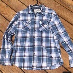 AMERICAN EAGLE plaid flannel button up shirt